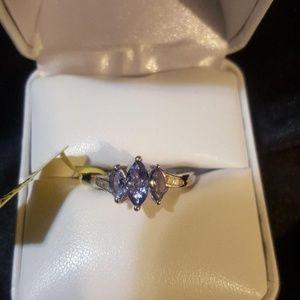 Jewelry - Tanzanite, Diamond Platinum over Sterling Silver
